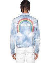 DSquared² Куртка rainbow Из Хлопкового Денима - Синий