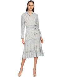 Luisa Beccaria Printed Georgette Shirt Dress - Многоцветный