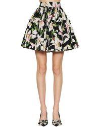 Dolce & Gabbana Rock mit Blumenprint - Schwarz