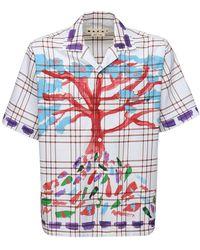 Marni Рубашка Из Хлопковой Саржи - Многоцветный