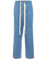 Loewe ルーズコットンデニムジーンズ - ブルー