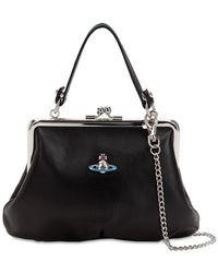 Vivienne Westwood Emma Soft Leather Top Handle Bag - Black