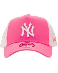 "KTZ Truckerkappe Aus Mesh ""ny Yankees"" - Pink"