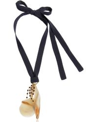 Marni - Petals Horn & Crystals Pendant Necklace - Lyst