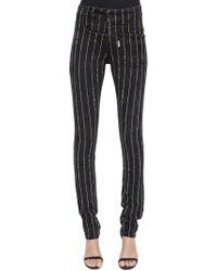 Filles A Papa - Skinny Twisted Embellished Denim Jeans - Lyst