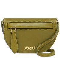 Burberry Micro Olympia レザーショルダーバッグ - グリーン