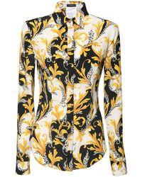 Versace - シルククレープシャツ - Lyst