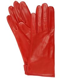 Mario Portolano Leather Gloves - Red