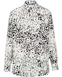 Saint Laurent - Шёлковая Рубашка С Принтом - Lyst