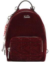 Karl Lagerfeld - Kaia X Karl Glitter Velvet Mini Backpack - Lyst