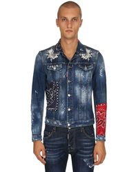 DSquared² Giacca Dan Jean In Denim - Blu