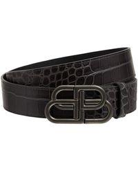 Balenciaga Кожаный Ремень С Крокодиловым Тиснением 1.5cm - Многоцветный