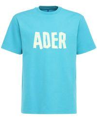 ADER error コットンジャージーtシャツ - ブルー