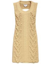 Bottega Veneta Трикотажное Платье Из Шерсти - Естественный