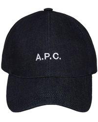 A.P.C. - Бейсбольная Кепка Из Деним - Lyst