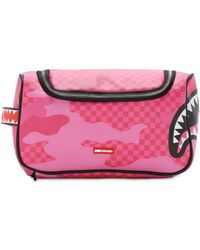 Sprayground Anime Camo Toiletry Bag - Pink