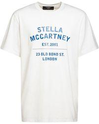 Stella McCartney T-shirt Aus Baumwolljersey Mit Druck - Weiß
