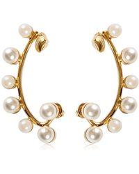 Elie Saab Earring With Pearls - Metallic