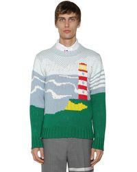 Thom Browne Хлопковый Свитер Из Трикотажа - Многоцветный
