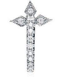 Stone Paris - Cross Tiny Hoop Mono Earring - Lyst