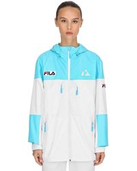 Fila Holt Shell Logo Nylon Jacket - Blue