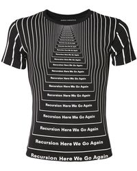 Paco Rabanne All Over Print Cotton T-shirt - Black