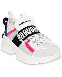"DSquared² 40mm Hohe Sneakers Aus Neopren ""the Bumpy One"" - Weiß"
