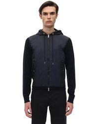 Moncler - Nylon Technique & Cotton Jacket - Lyst