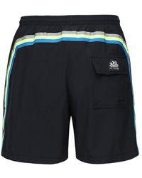 Sundek Shorts Aus Stretch-technostoff Mit Logo - Schwarz