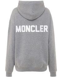 Moncler コットンフリースフーディー - グレー