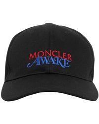 Moncler Genius Awake Nyc コットンロゴキャップ - ブラック