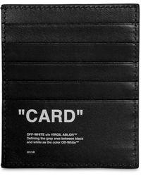 Off-White c/o Virgil Abloh - Porte-Cartes En Cuir Imprimé - Lyst