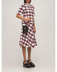 Gucci Web ウールブレンドツイードスカート - マルチカラー