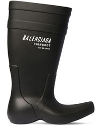 Balenciaga ラバーレインブーツ - ブラック