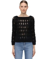 Gudrun & Gudrun Snogga Mohair Blend Loose Knit Jumper - Black