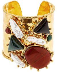 Sylvia Toledano Manchtte Artsty Cuff Quartz Bracelet - Metallic