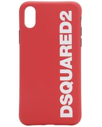 DSquared² Iphone X-cover Mit Logodruck - Rot