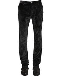 John Varvatos - 17cm Skinny Cotton Velvet Trousers - Lyst