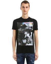 DSquared² - T-shirt Aus Baumwolljersey Mit Druck - Lyst