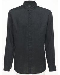 Armani Exchange リネンシャツ - ブラック