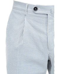 GTA Shorts Aus Baumwollseersucker - Blau