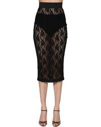 Dolce & Gabbana - ストレッチレース ペンシルスカート - Lyst