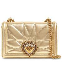 Dolce & Gabbana - Devotion レザーショルダーバッグ - Lyst
