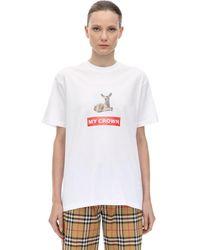 Burberry Bambi コットンジャージーtシャツ - ホワイト
