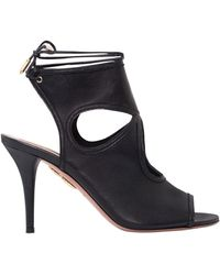 Aquazzura - Sexy Thing Leather Sandals - Lyst