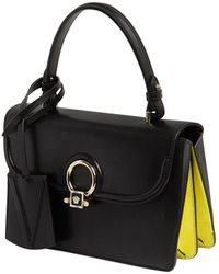 Versace - Small Donatella Leather Top Handle Bag - Lyst