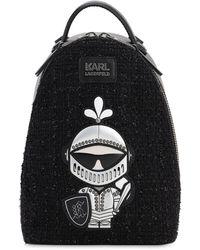 """Karl Lagerfeld Rucksack Aus Tweed """"karl Treasure"""" - Schwarz"""