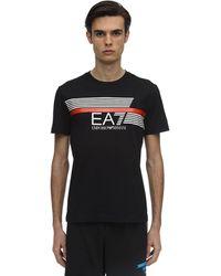 EA7 - コットンジャージーtシャツ - Lyst