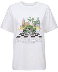 CASABLANCA - オーガニックコットンジャージーtシャツ - Lyst
