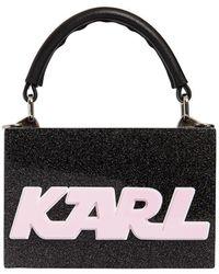Karl Lagerfeld - K/sporty Glittered Box Clutch - Lyst